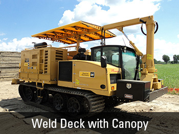 Weld Deck Vanguard CPW 125-4 Series 2 gives you continuous powered welding. & Panther T8 Carrier by Caterpillar - Pipeline Construction Utility ...