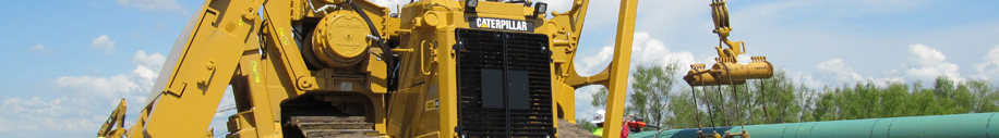 Used pipeline construction equipment from Caterpillar